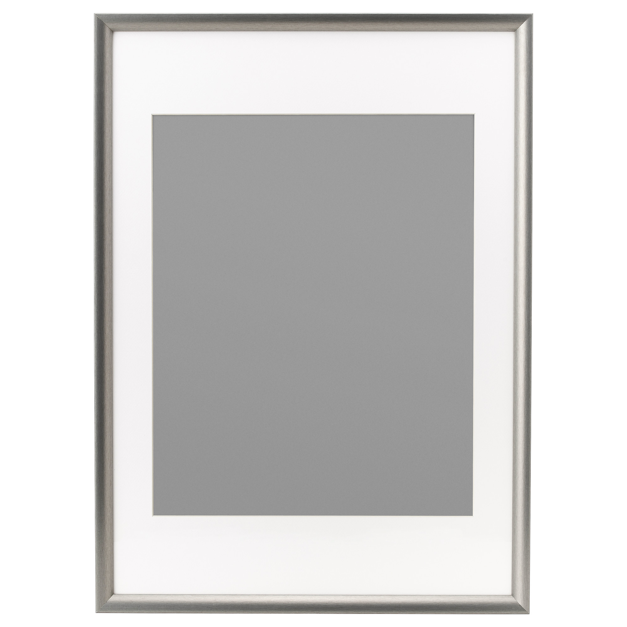 silverhjden frame silver color picture without mat width 19 picture without