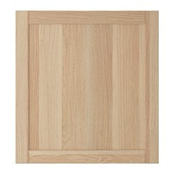 HANVIKEN door, white stained oak effect Width: 60 cm Height: 64 cm