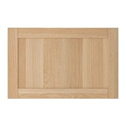 HANVIKEN door/drawer front, white stained oak effect Width: 60 cm Height: 38 cm