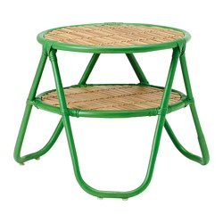 NIPPRIG 2015 side table, natural, green Diameter: 50 cm Height: 47 cm