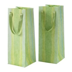 KÄRESTA gift bag, green Width: 12 cm Height: 32 cm Package quantity: 2 pieces