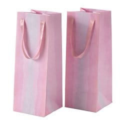 KÄRESTA gift bag, pink Width: 12 cm Height: 32 cm Package quantity: 2 pack
