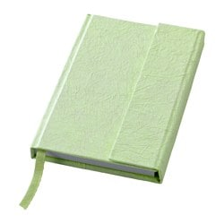 KÄRESTA note-book, green Length: 15 cm Width: 10 cm Surface density: 80 g/m²