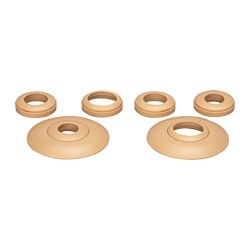 TORV pipe collar, light brown Package quantity: 2 pack