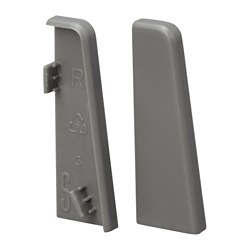 TORV end cap for skirting-board, grey Package quantity: 2 pack