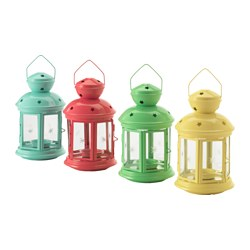 ROTERA lantern for tealight, assorted colours Height: 21 cm