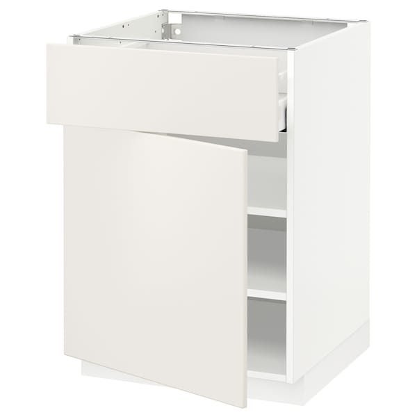 Metod Maximera Base Cabinet With Drawerdoor White Veddinge