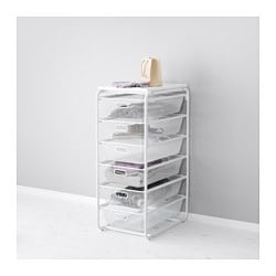 "ALGOT frame with 6 mesh baskets/top shelf, white Width: 16 1/8 "" Depth: 23 5/8 "" Height: 40 1/8 "" Width: 41 cm Depth: 60 cm Height: 102 cm"