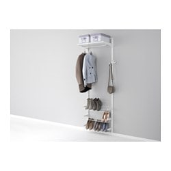 ALGOT wall upright/shelves/shoe organiser, white Width: 65 cm Depth: 40 cm Height: 196 cm