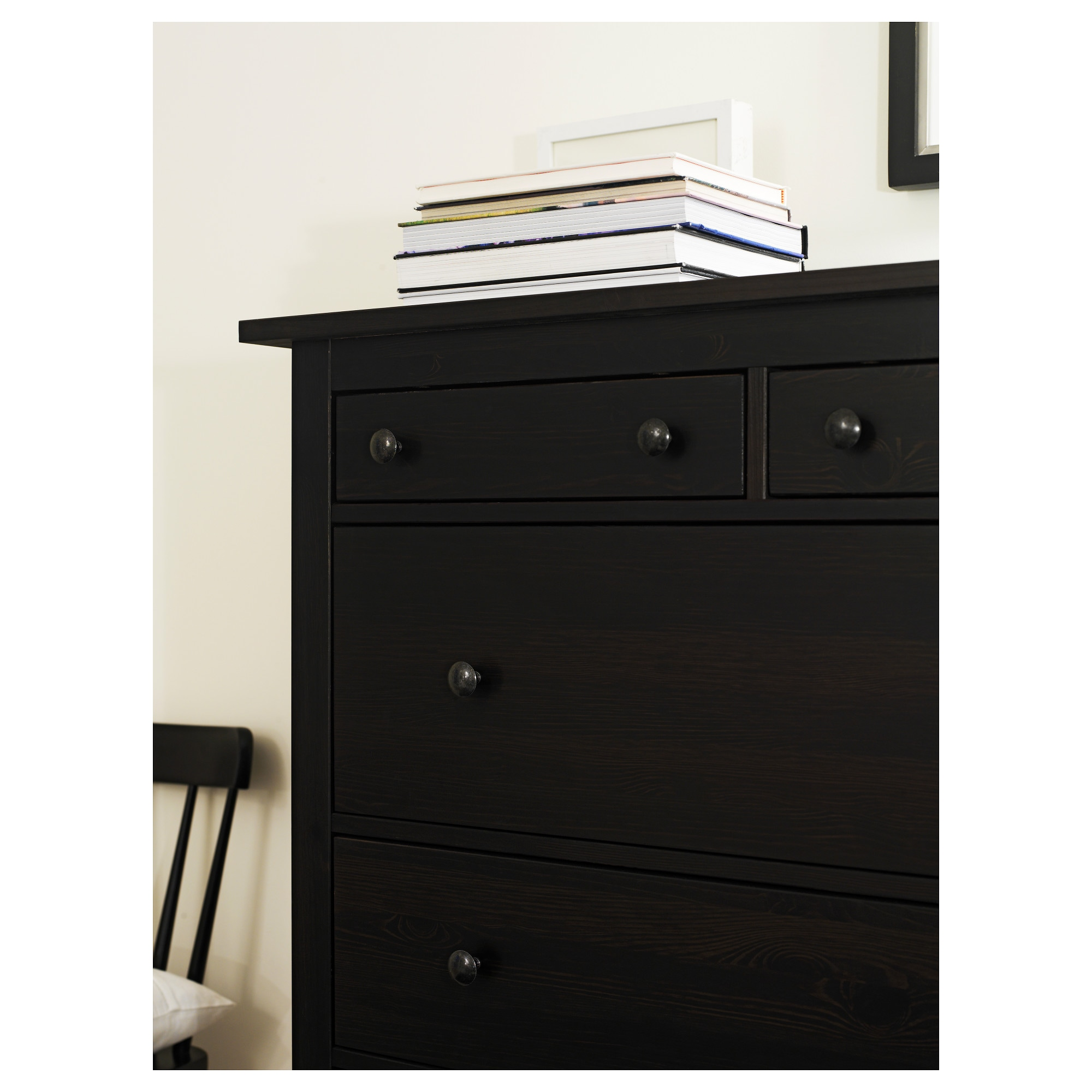 hemnes drawer chest  blackbrown  x    ikea -