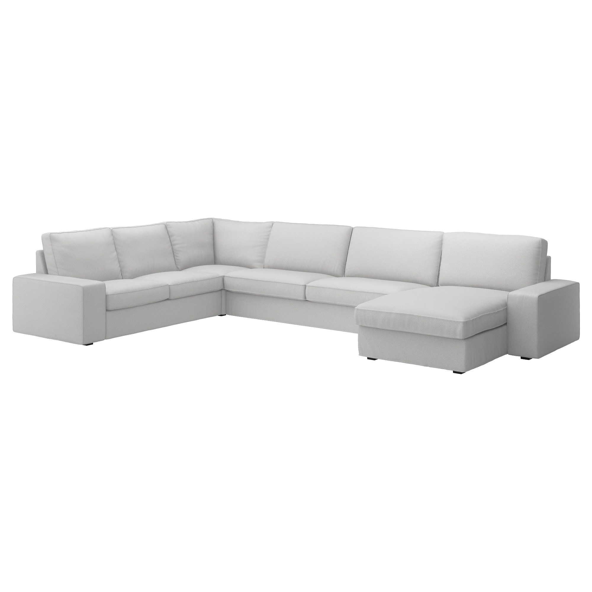 KIVIK Sectional 5 seat Orrsta light gray IKEA