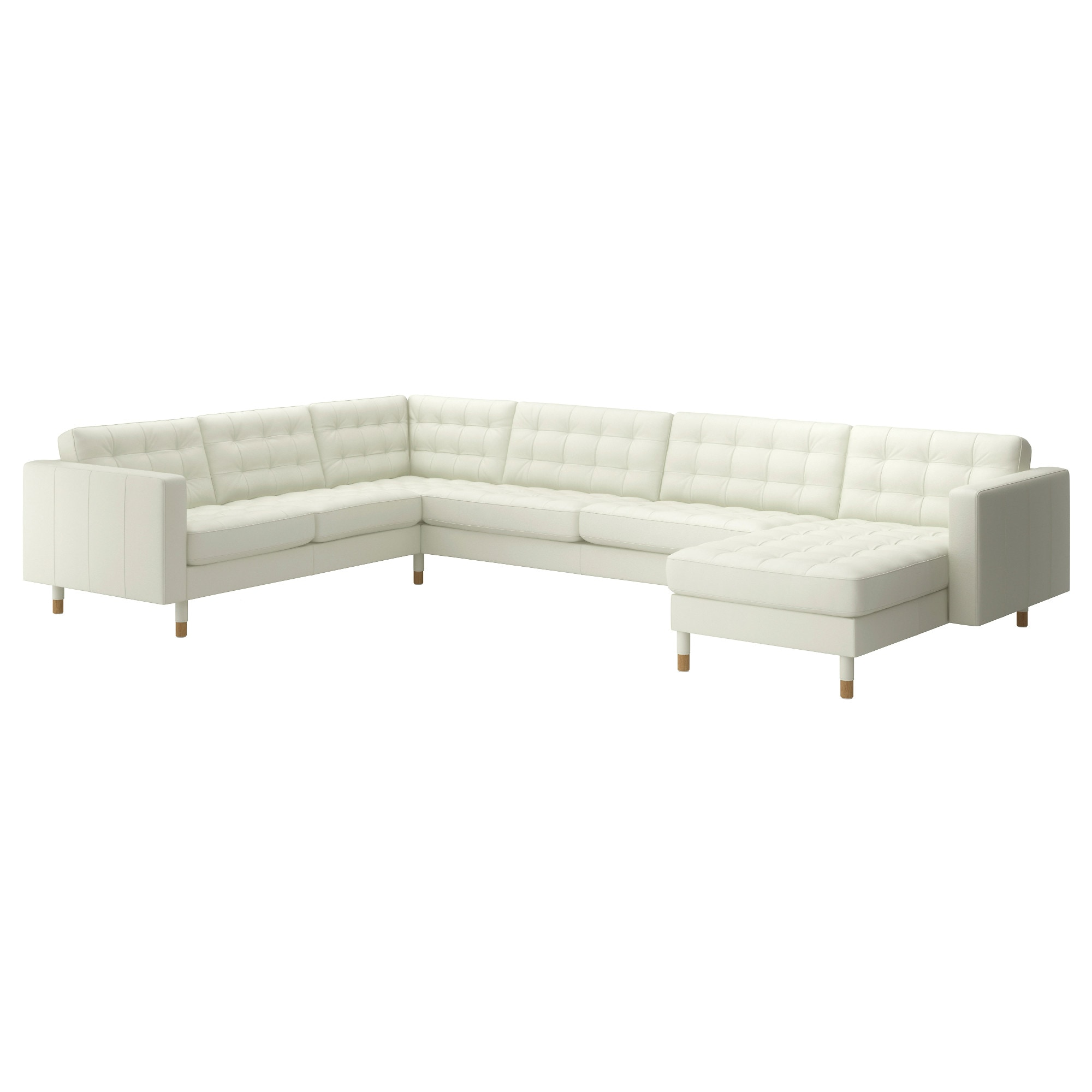 Awesome LANDSKRONA Sectional, 6 Seat Corner, Grann, Bomstad White/wood Depth: Part 16