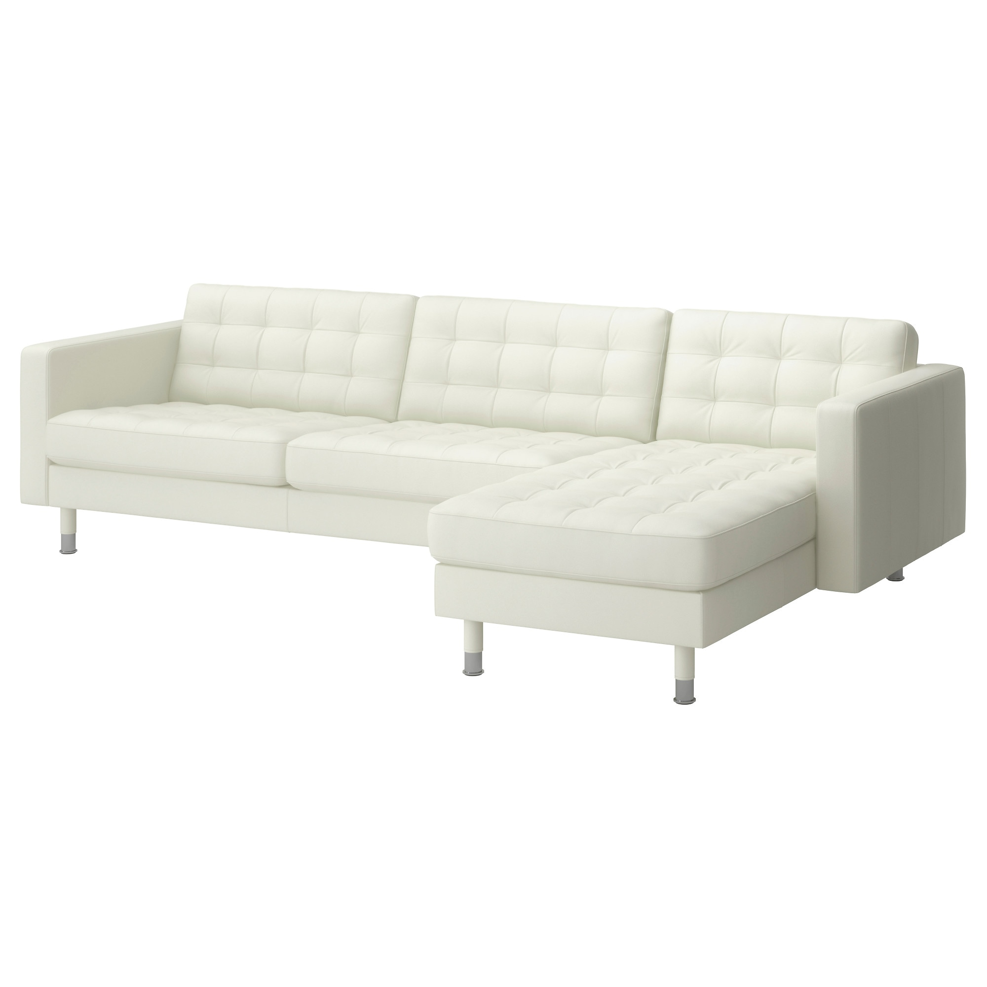leather  faux leather couches chairs  ottomans  ikea - landskrona sectional seat grann bomstad whitemetal width