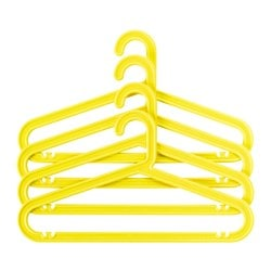 "SPRUTT clothes-hanger, yellow Width: 16 ½ "" Package quantity: 4 pack Width: 42 cm Package quantity: 4 pack"