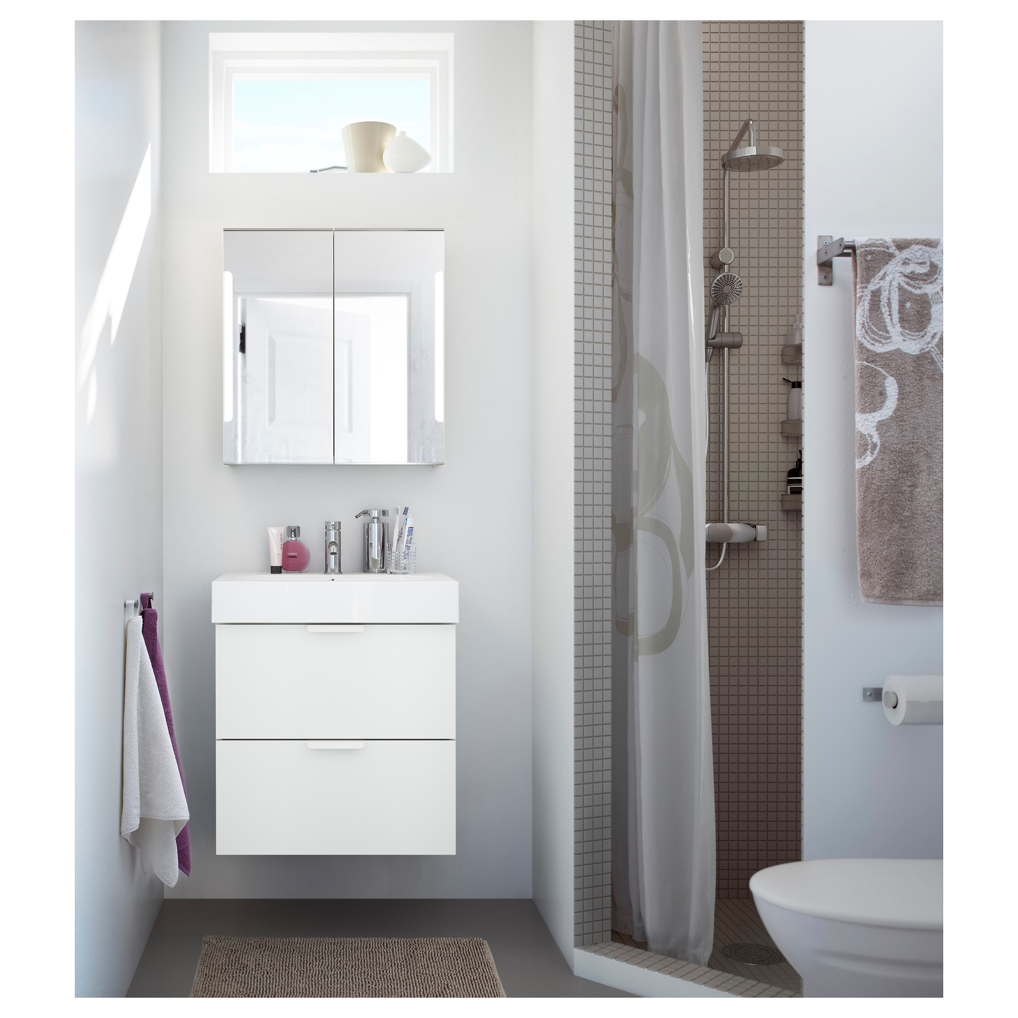Bathroom mirror cabinets ikea - Storjorm Mirror Cabinet W 2 Doors Light 23 5 8x5 1 2x37 3 4 Ikea