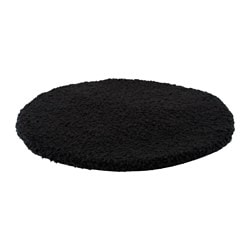 BERTIL chair pad, black Diameter: 33 cm