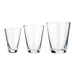 RYSSBY 2014 glass, set of 3, clear glass