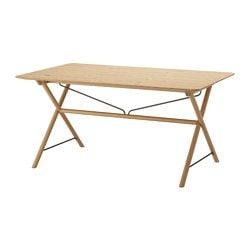 DALSHULT /  TIMMERHULT table, birch Length: 156 cm Width: 90 cm