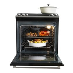 Nutid Slide In Range With Gas Cooktop Stainless Steel