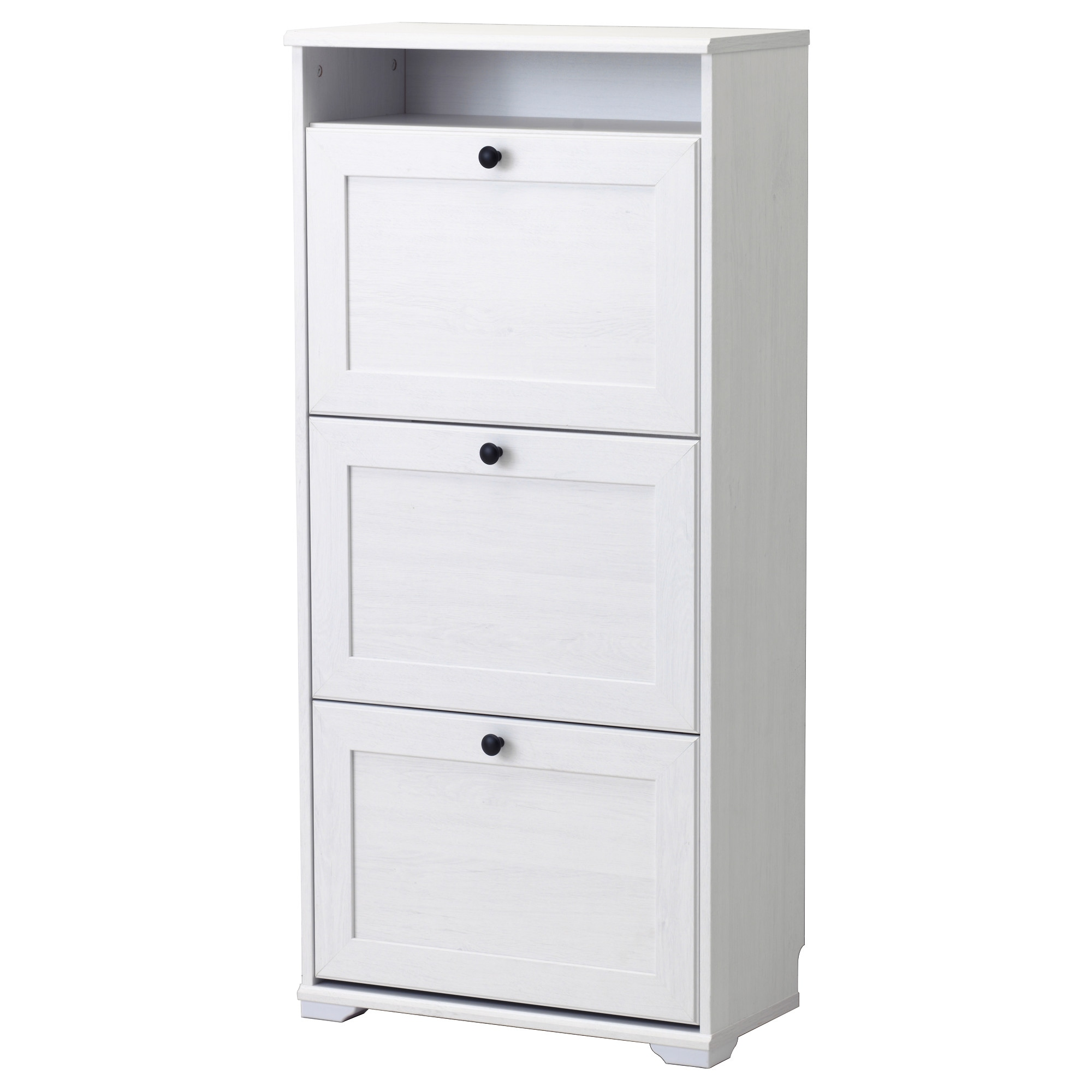 Design Ikea Shoe Storage brusali shoe cabinet with 3 compartments white ikea
