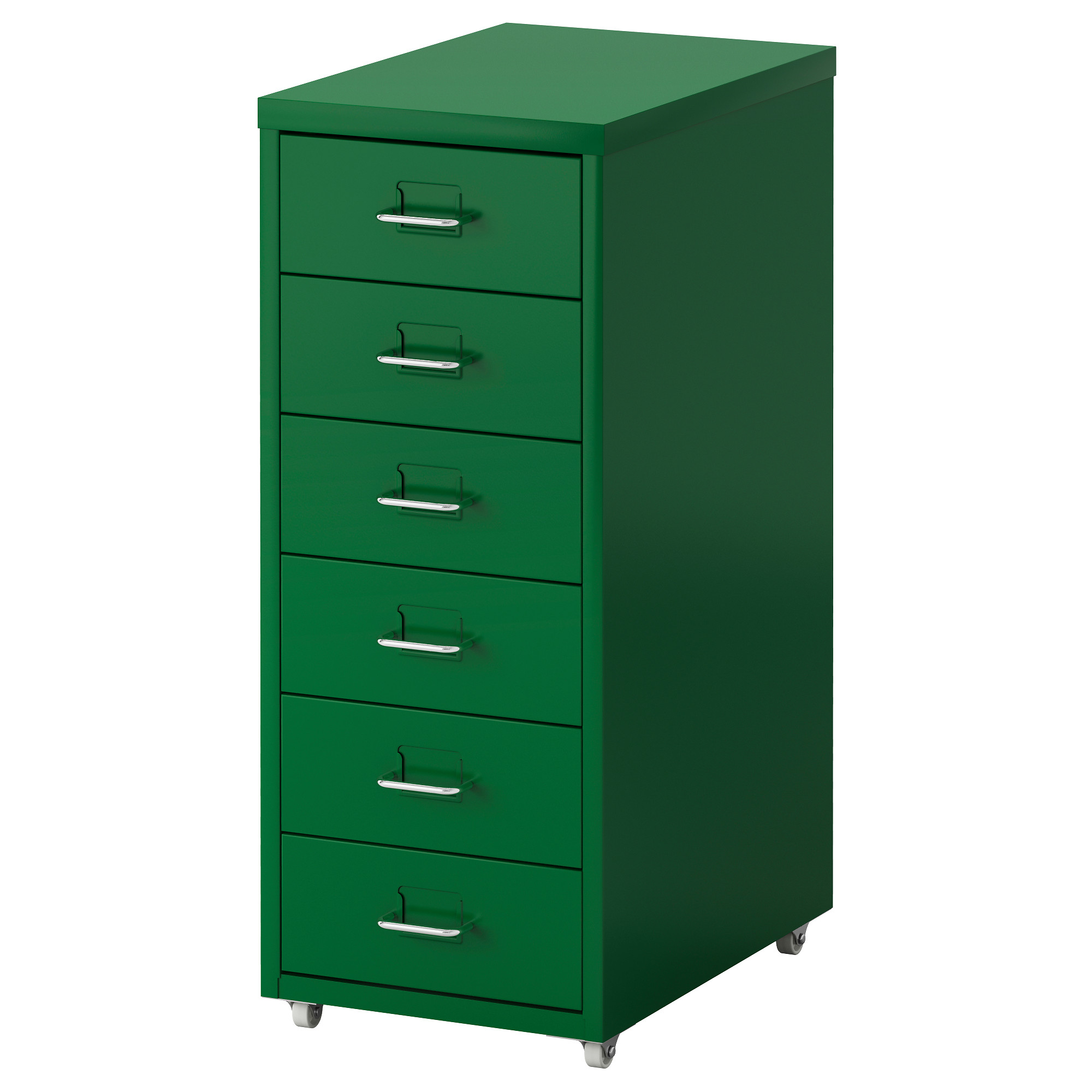 helmer drawer unit on casters - green - ikea