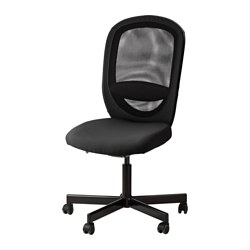 FLINTAN swivel chair, Havhult black Tested for: 110 kg Width: 74 cm Depth: 69 cm