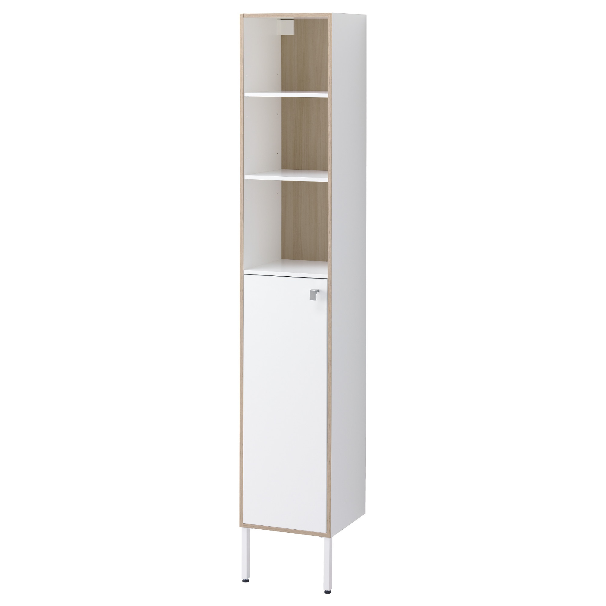 Ikea bathroom floor cabinet - Tyngen High Cabinet White Ash Effect Width 11 3 4 Depth