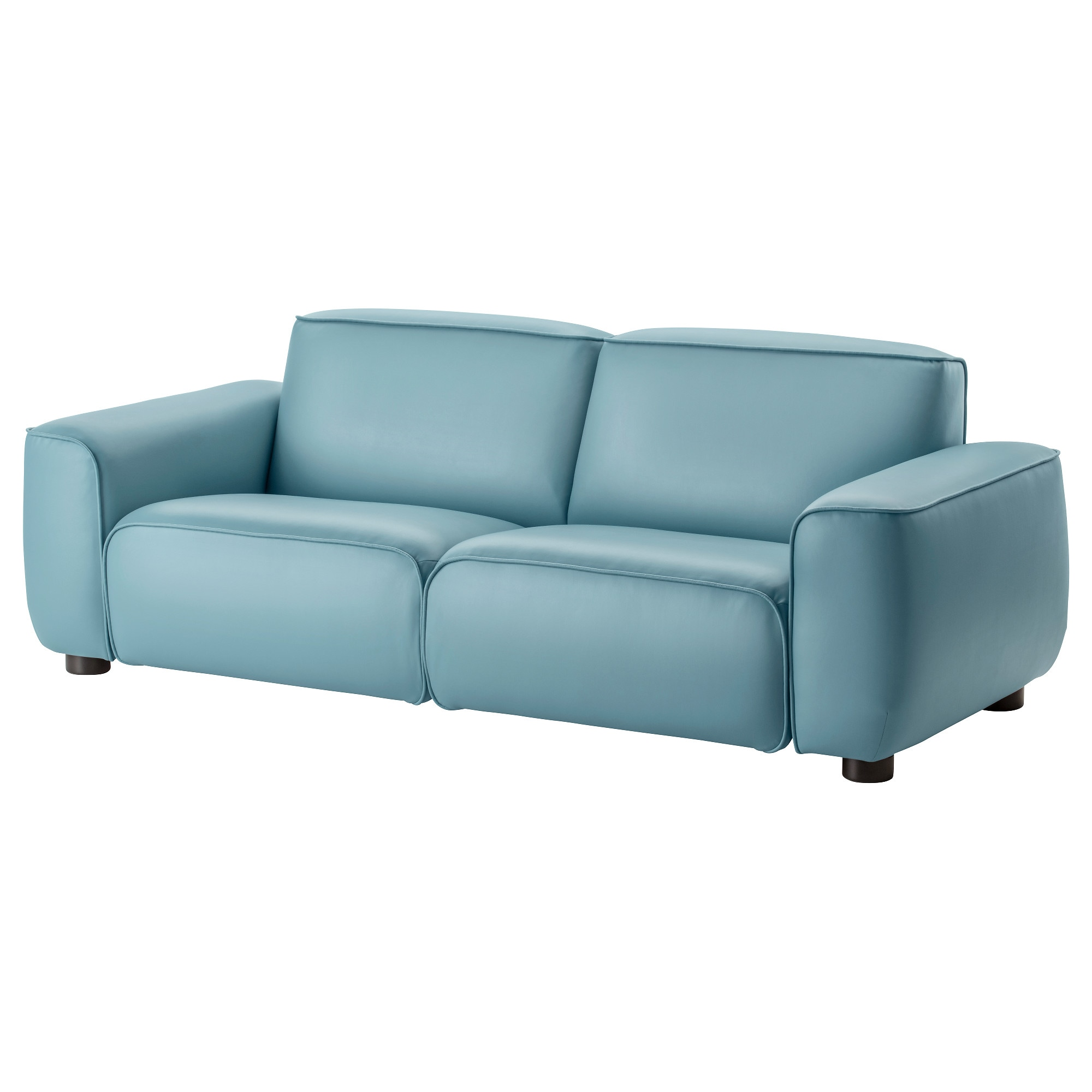 Blue leather sofa ikea thesofa for Blue leather sofa