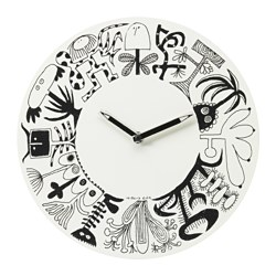 ÖNSKEDRÖM wall clock, white Diameter: 28 cm