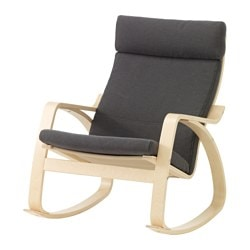 POÄNG rocking chair, Finnsta gray, birch veneer