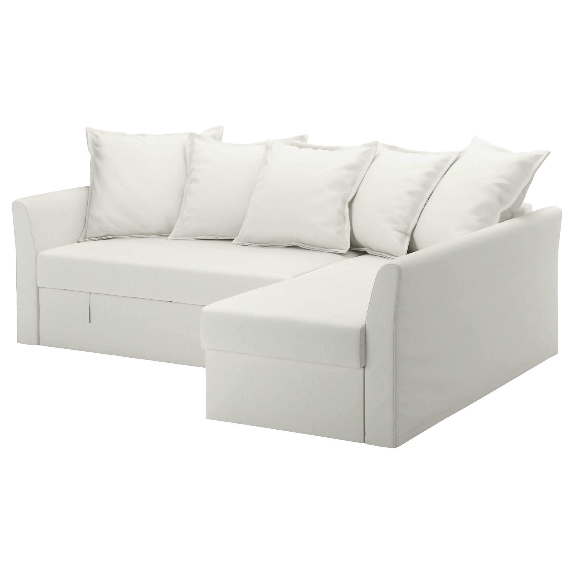 HOLMSUND Sleeper Sectional, 3 Seat, Ransta White Height Including Back  Cushions: 37