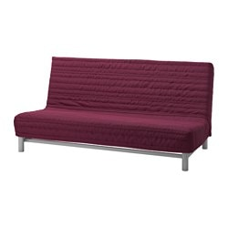 BEDDINGE cover for sleeper sofa, Knisa cerise