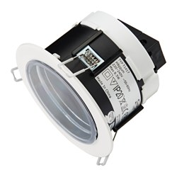 HÄGGUM recessed spotlight, in/outdoor, adjustable white Cut-out diameter: 11 cm Max. diameter: 13 cm Height: 10 cm