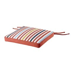 TÅSINGE chair cushion, outdoor, red Width: 40 cm Depth: 40 cm Thickness: 4 cm