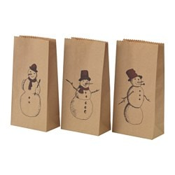 VINTER 2015 gift bag, snowman Width: 12 cm Height: 24 cm Package quantity: 12 pack