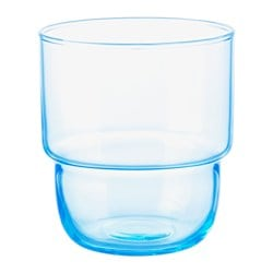 MUSTIG glass, light blue Height: 8.5 cm Volume: 23 cl