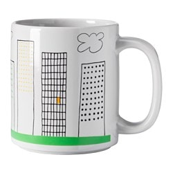ÖNSKEDRÖM mug, patterned Height: 10 cm Volume: 37 cl