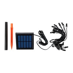 "SOLARVET LED lighting chain with 24 lights, solar-powered, outdoor Cord length: 276 "" Cord length: 7 m"