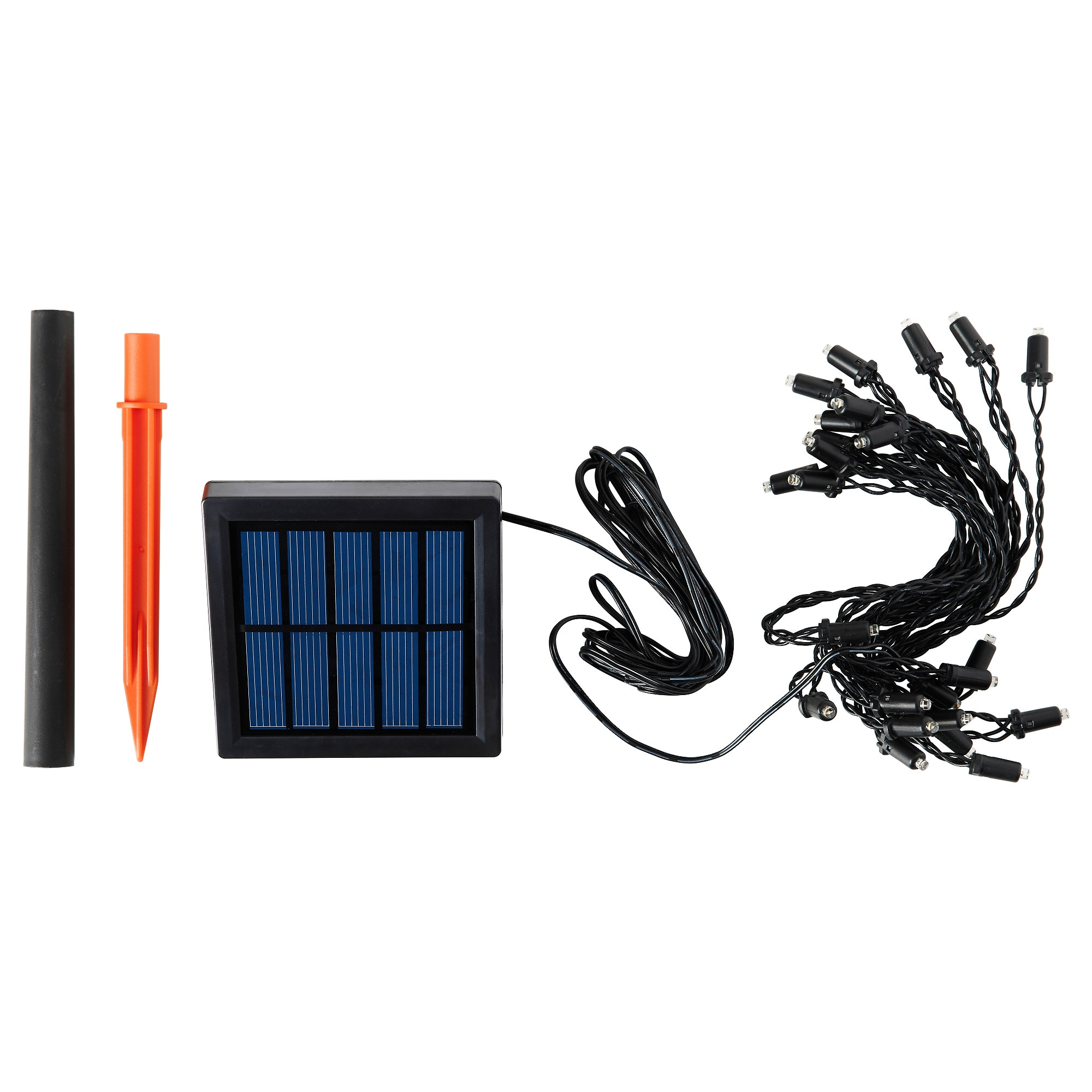SOLARVET LED Light Chain With 24 Lights, Outdoor, Solar Powered Cord Length: