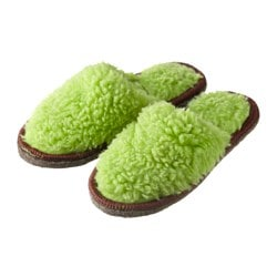 FEGEN slippers, olive green