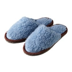 FEGEN slippers, light blue