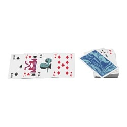 "LATTJO playing cards Length: 3 ½ "" Width: 2 ¼ "" Package quantity: 52 pack Length: 9 cm Width: 6 cm Package quantity: 52 pack"