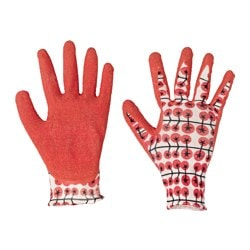 KRYDDNEJLIKA gardening gloves, red Length: 23 cm
