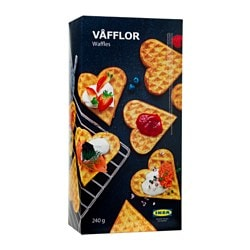 VÅFFLOR waffles, frozen Net weight: 8 oz Net weight: 240 g