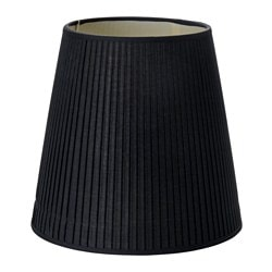 EKÅS lamp shade, black Diameter: 34 cm Height: 32.5 cm