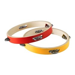 LATTJO, Tambourine, red/yellow