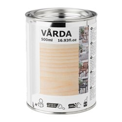 VÅRDA, Wood stain, outdoor use, colorless