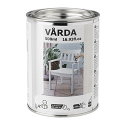 VÅRDA wood stain, outdoor use, white Coverage:: 10 m² Volume: 500 ml