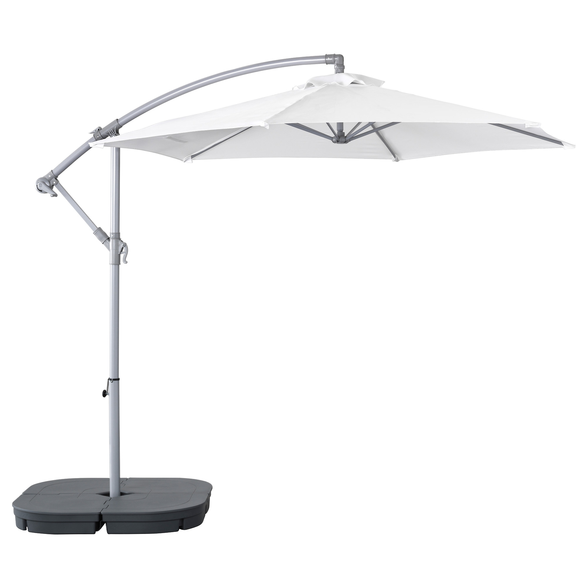 Amazing BAGGÖN / SVARTÖ Hanging Umbrella With Base, White, Dark Gray Height: 103 1