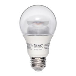LEDARE LED bulb E26 600 lumen, globe clear, dimmable Luminous flux: 600 Lumen Power: 8.6 W Luminous flux: 600 Lumen Power: 8.6 W